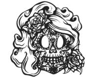 "Pen and Ink Drawing of ""La Skeleta"""
