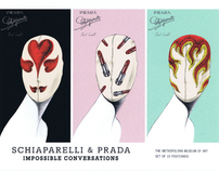 SCHIAPARELLI & PRADA HEAD CONCEPTS ILLUSTRATIONS
