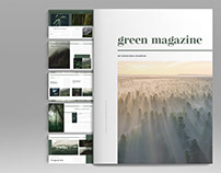 Green Magazine Layout