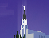 Boston Temple Illustration