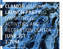 Clamor Literary & Arts Journal Event Posters