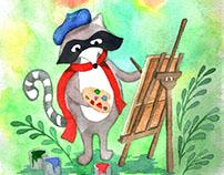 Детская иллюстрация к открыткам