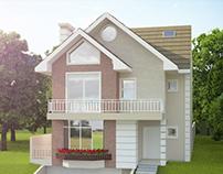 House Exterior Visualization - Curitiba-BR