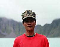 Man at Mount Pinatubo