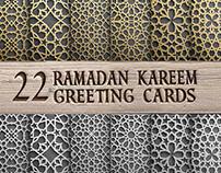 Ramadan Kareem greeting cards set
