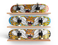 #SkateJamContest - Custom Skateboard Deck Illustration