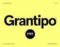 Grantipo typeface BETA 001