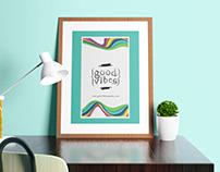 Good Vibes Branding Logo, Package & Poster Design