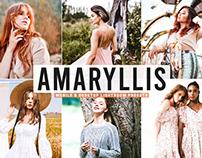 Free Amaryllis Mobile & Desktop Lightroom Presets