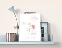 Minimalist Trendy Organic Calendar 2021