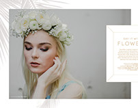 Say it with Flowers - Wedding Editorial Magazine Layout