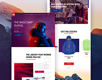 North Face Landing page Concept