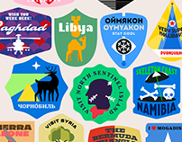 THE WORST TOURIST DESTINATIONS — LUGGAGE STICKERS