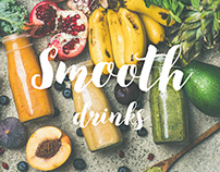 Smooth drinks concept design // Website
