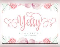 Yessy feminine wedding script for font free download