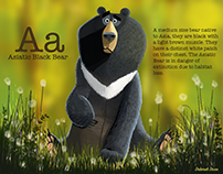 A is for Asiatic Black Bear