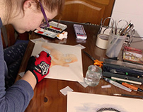 Painting with my daughter.