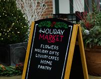 Holiday Market Hand Lettered Signage Commission