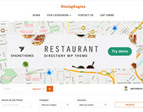 DiningEngine WordPress Restaurant Directory Theme