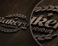 PSD Wooden logo Mock-up