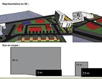 Projet d'aménagement - Croquis - Modélisation 3D - Plan
