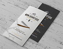 Tri fold brochure for Man Quarters Grooming