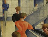 Oskar Schlemmer Bauhaus Stairway 1932