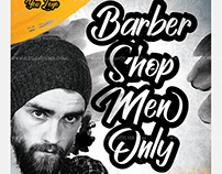 Barbershop Men Only – Free Flyer PSD Template