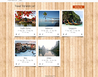 Travel Wish List (Ruby/Rails)