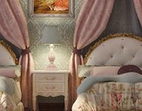 Vintage girls bedroom design at con-creative office