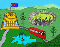 NZ Picture Book (sketch to full colour)