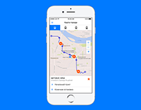 Go2Bus iOS app design