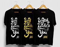 Manual T-Shirt Screen Printing