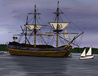 illustration   The Swedish ship Göteborg, 2015