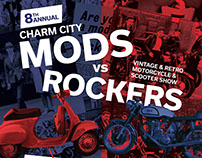 Charm City Mods vs. Rockers event poster