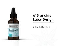 Branding & Label Design for CBD Botanicals