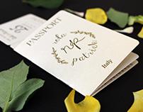 Invitation Card Design for a Destination Wedding