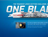 Lenox One Blade Microsite