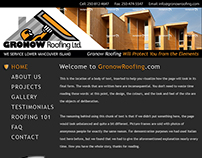 Website design for Gronow Roofing