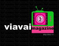 Web design for ViaVai Magazine Online