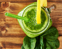 Green smoothie - Food photography
