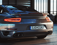 3D Render - Porsche 911 Turbo S 2014