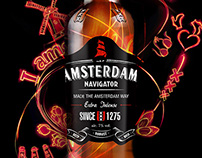 Beer Amsterdam Navigator. Concept for visual key