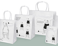 Paper bags with Teddy Bear