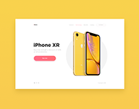 Landing page concept IPhone XR