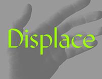 Displace. Font