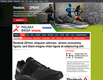 Reebok ZPrint page layout