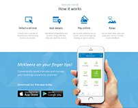 McKleenz - Website and Mobile App