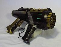 Steampunk Gatling Pistol