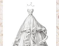 'Pnina Tornai. Love' - Wedding Dress Illustration